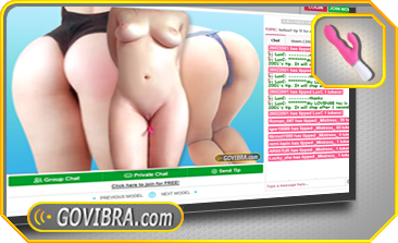 GOVIBRA.com See how the GOVIBRA teledildonic sex toys make girls wet live on amateur hot chicks sex cam - TURN IT ON Are you excited to try the slick GOVIBRA toy now? Before you can turn it on, you will need some tokens in your account. Simply get some tokens HERE. Special: Get 5 BONUS tokens on your first ever purchase for any amount! Now look for chat rooms with VibraToy logo in the bottom right corner, join it and you are ready for the next step.